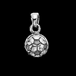 Vedhæng - fodbold 8 mm i sølv