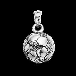 Vedhæng - fodbold 11 mm i sølv med kæde - 220632