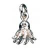 Vedhæng - Blæksprutte i sølv med kæde - 260692