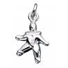 Vedhæng - Klovn i sølv med kæde - 260362