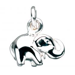 Vedhæng - elefant i sølv