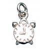 Vedhæng - vækkeur i sølv med kæde - 260632