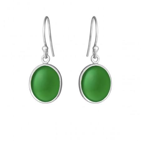 Ørehænger med grøn agate