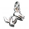 Vedhæng - krokedille i sølv med kæde - 260752