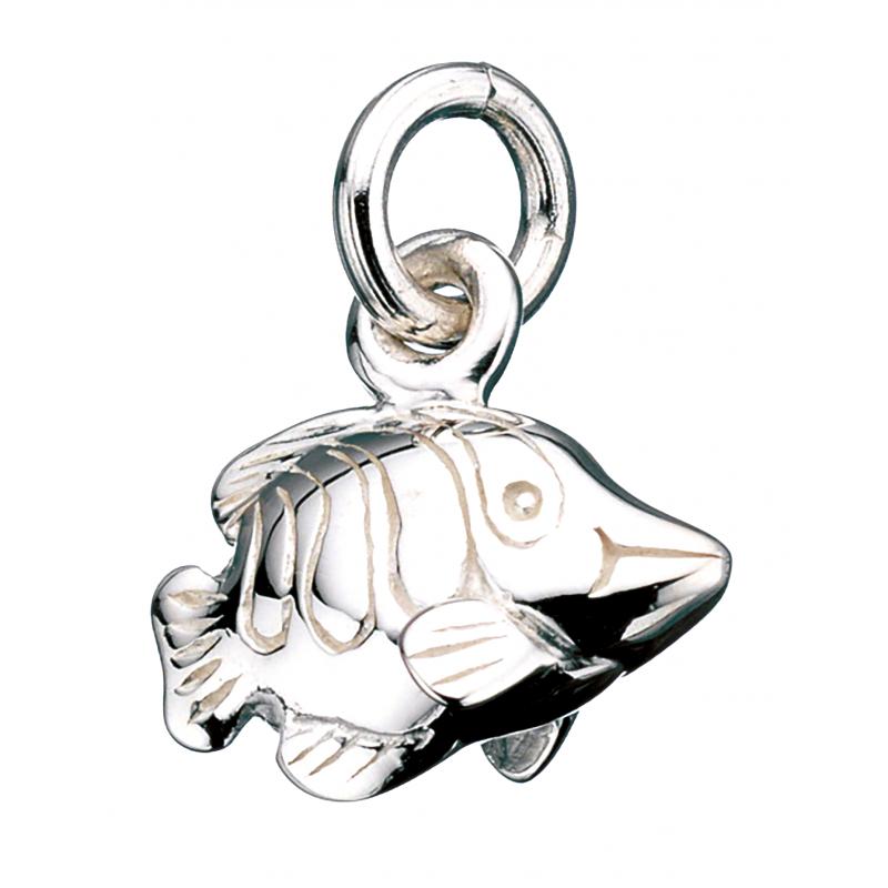 Vedhæng - fisk i sølv med kæde - 260672