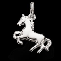 Vedhæng - hest i sølv med kæde - 201332