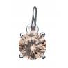 Vedhæng med rund champagne zirconia med kæde - 260542