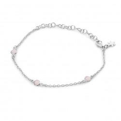 Armbånd med lys pink krystal