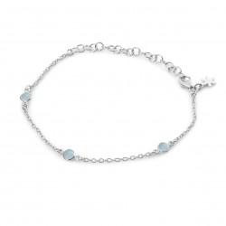 Armbånd med lys blå krystal