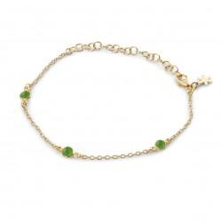 Armbånd med grøn agate