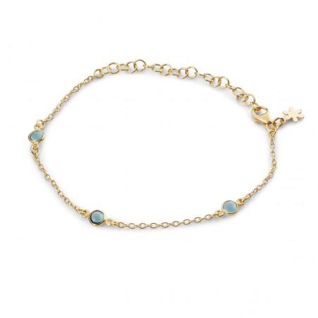Armbånd med London blue krystal