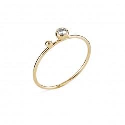 Guld ring med 0,08 brillanter