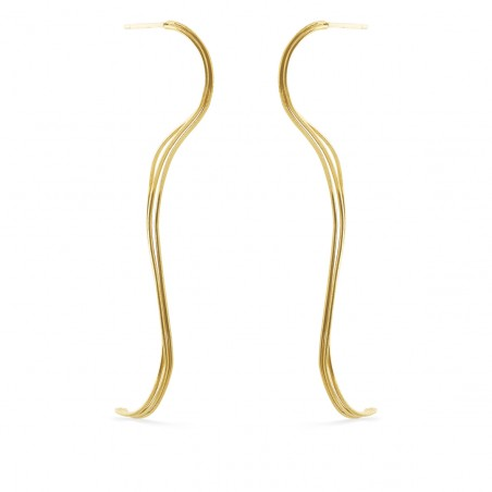 Øreringe med svungne tråde