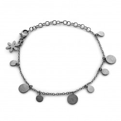Sort rhodineret sølv armbånd