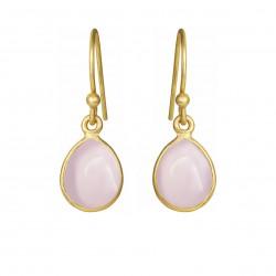 Øreringe med glat lys pink...