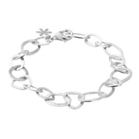 Armbånd i sølv med store matte led