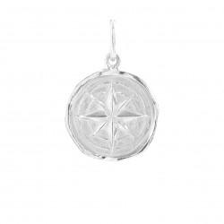 Vedhæng i sølv - kompas