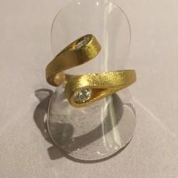 NICE forgyldt sølv ring med...