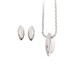Smykkesæt med zirconia i sølv