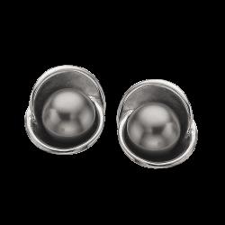 Øreringe med grå Swarowski perle