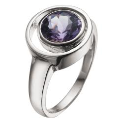 Sølv ring med Ametyst