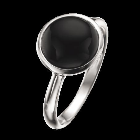 Sølv ring med Onyx