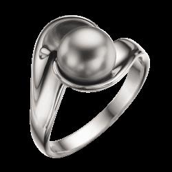 Sølv ring med grå Swarowski...
