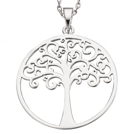 Livets træ sølv vedhæng incl. kæde