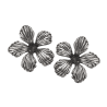 Blomster sølv øreringe