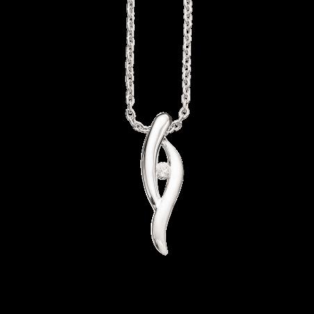 Vedhæng i sølv med zirconia