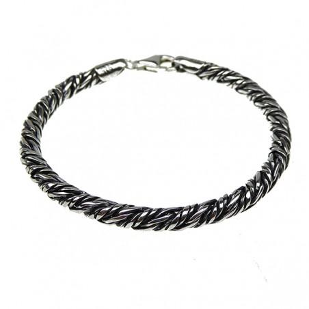 Armbånd - twistet rævehale i sølv