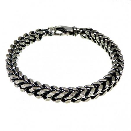 Kraftig letvægts armbånd i sølv