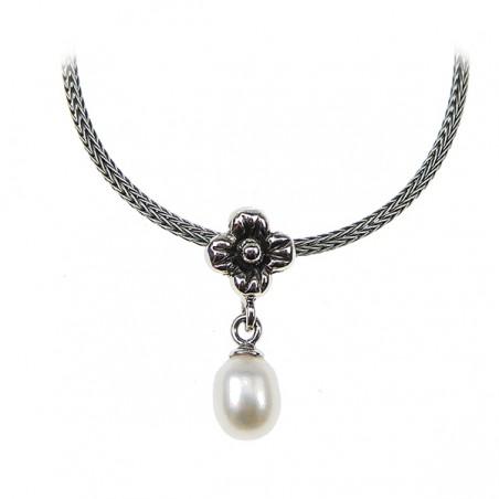 Sølv halskæde med ferskvandsperle