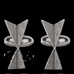Manchetknapper  i sølv