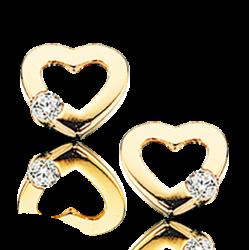 Øreringe - hjerte i...
