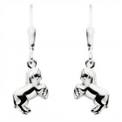 Ørehænger - hest i sølv