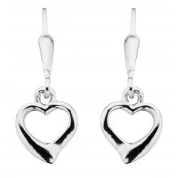 Ørehænger - hjerte i sølv