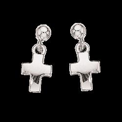 Ørehænger - kors i sølv