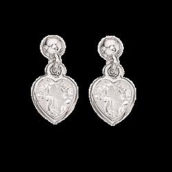 Ørehænger - hjerte i sølv...