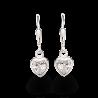 Ørehænger - hjerte i sølv med zirconia