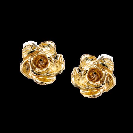 Øreringe - rose i 14 kt. guld