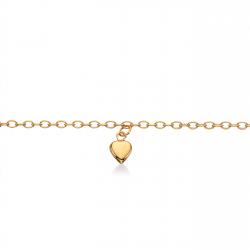 Armbånd i 8 kt. guld med hjerte