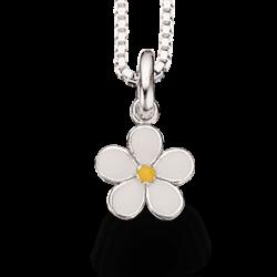 Vehæng - blomst i sølv med...