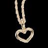 Vedhæng - hjerte med kæde