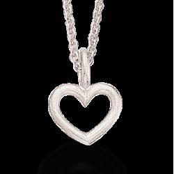 Vedhæng - hjerte med kæde - 224672