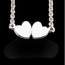 Halskæde med hjerter 1