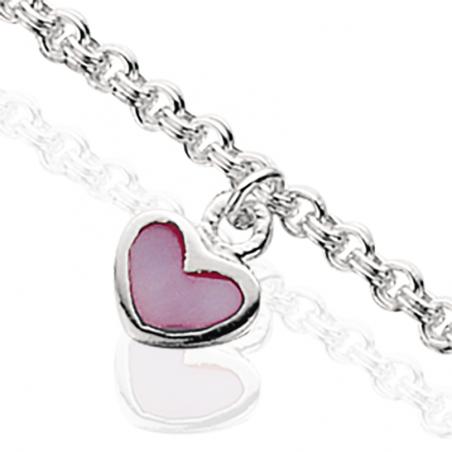 Armbånd i sølv med hjerte