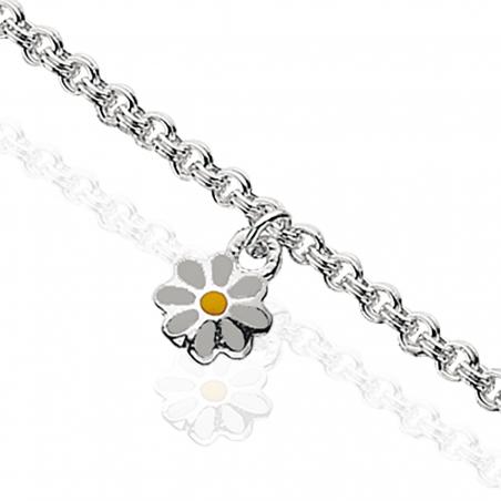 Armbånd i sølv med blomst
