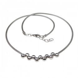 Sølv halskæde med kugler