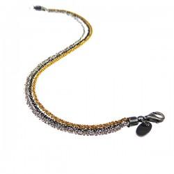Sølv halskæde - 3 farvet -...